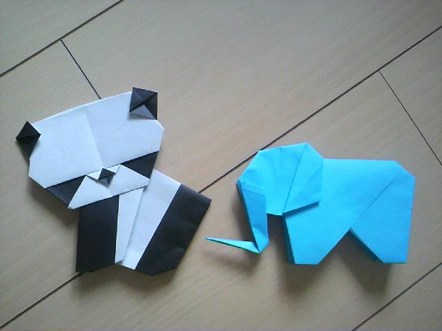 クリスマス 折り紙 折り紙 ぞう : na-tsu.blog.so-net.ne.jp